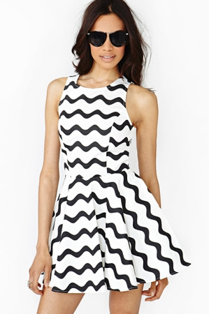 Graphic Wave Skater Dress in Clothes Dresses at Nasty Gal ($58.00) - Svpply