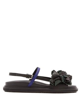 sandals flat sandals leather black shoes