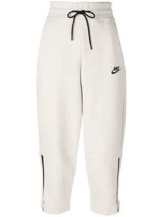 pants track pants high waisted cropped high women white cotton