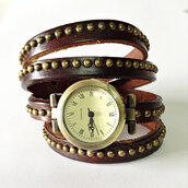 jewels,wrap watch,watch,leather watch,vintage,jewelry,studded,acacia brinley,studded shorts