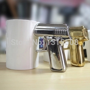 Creative personality pistol mug cup ceramic cup coffee cup shooting gun shap home accessory