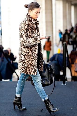 le fashion image blogger leopard print animal print