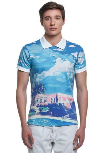 tank top polo shirt printed polo shirt all over print polo shirt full print polo shirt print print t-shirt printed t-shirt menswear mens t-shirt
