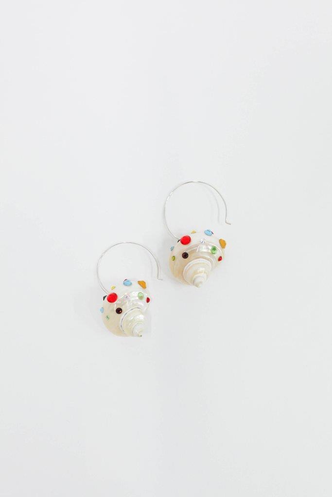 Rainbow Shell Earrings - Rainbow