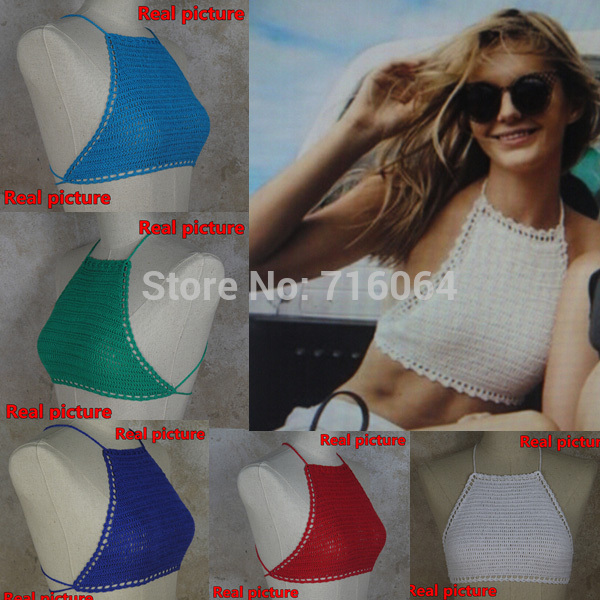 Aliexpress.com : buy womens sexy top handmade crochet bikini swimwear crocheted crop top swimsuit s/m/l from reliable bikini deals suppliers on physical picture 100%
