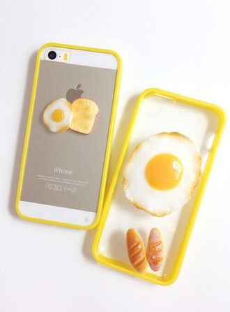 phone cover fried egg yellow iphone cover iphone case iphone iphone 5 case tumblr phone art fashion gold breakfast clear transparant white best tumblr girl pretty tumblr girls pretty girl grunge instagram autumn/winter summer cool hipster wishlist