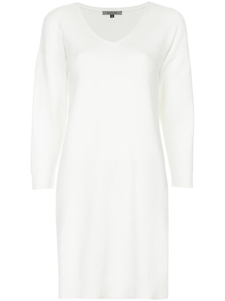 Han Ahn Soon dress women white cotton knit