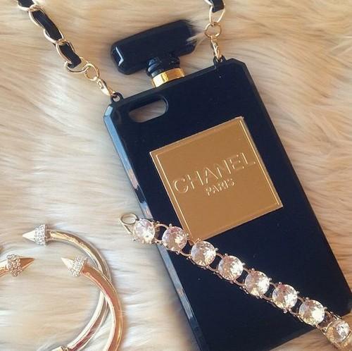 Black perfume bottle iphone 4/5/6 case by mir