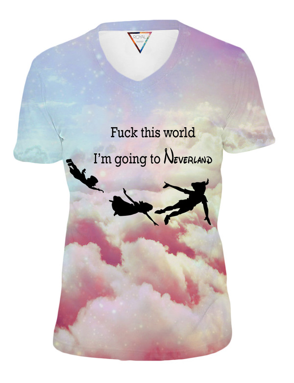 t-shirt disney disney peter pan galaxy print swag hipster hipster hipster clouds fuckit