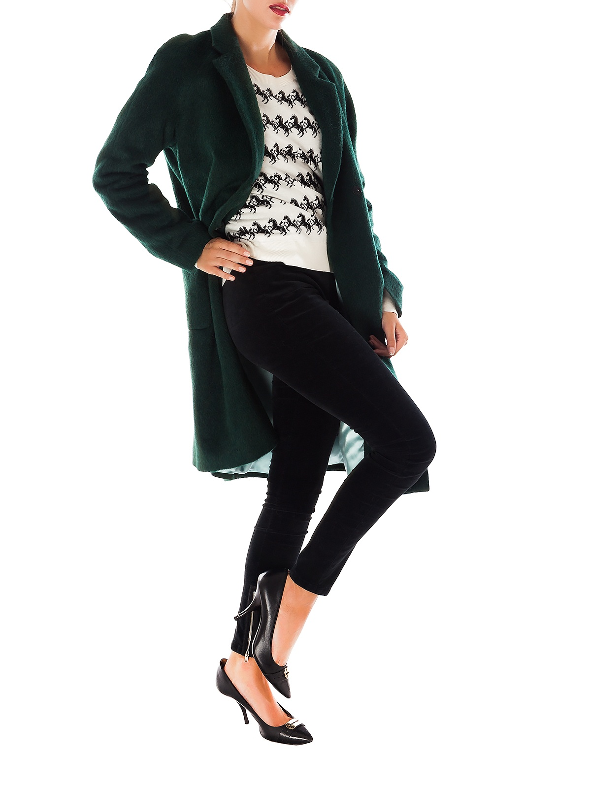MAY GREEN MASCULINE STYLE OVERCOAT | GIRISSIMA.COM - Collectible fashion to love and to last