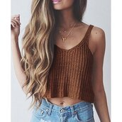 top,brown,fashion,style,knitwear,summer,hot,trendy,crop tops,cute,rose wholesale