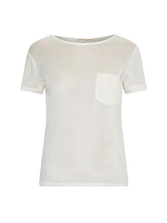 t-shirt shirt short silk beige top