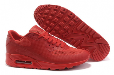Discounted mens nike air max 90 all red sneakers for sale