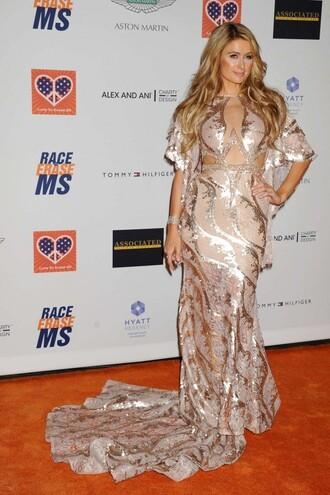 dress gown paris hilton prom dress