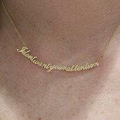 jewels,necklace,vintage,vintage necklace,gold necklace,gold,tumblr necklace,attention,chain,pendant,jewelry,i don't want,your attention,i don't want your attention