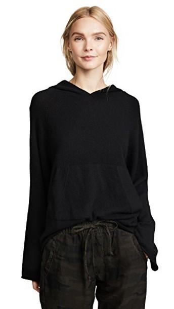 White + Warren hoodie white black sweater