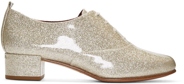 Marc Jacobs glitter oxfords silver silver glitter shoes