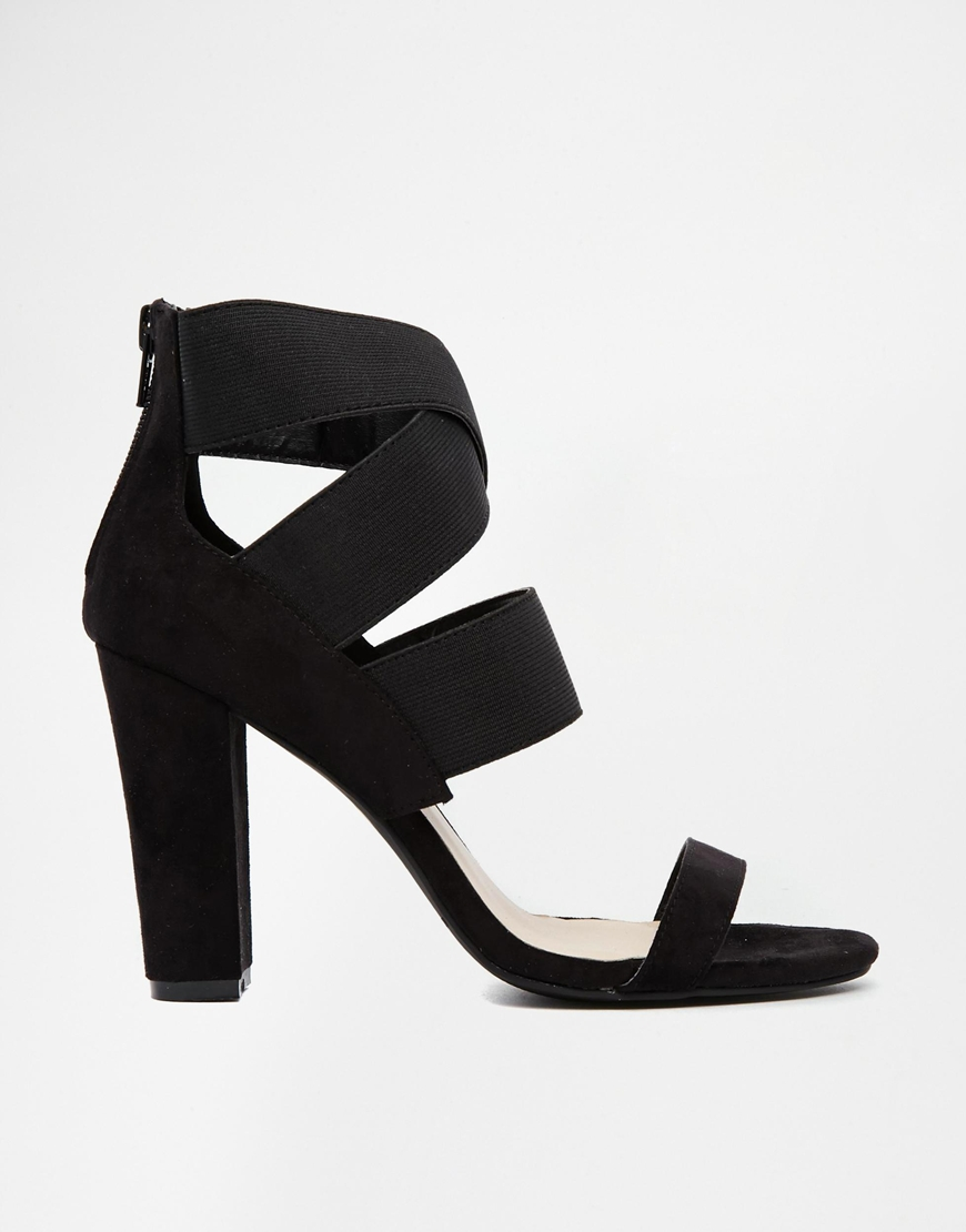 Warehouse strappy high heeled sandals at asos.com