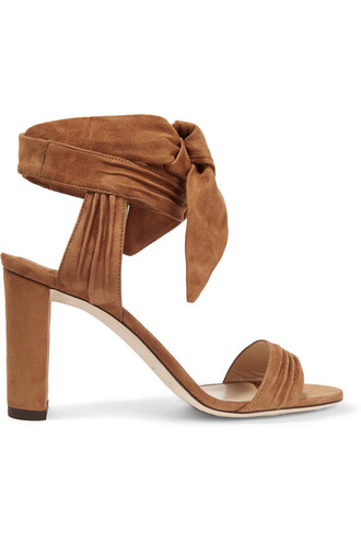 sandals suede tan shoes