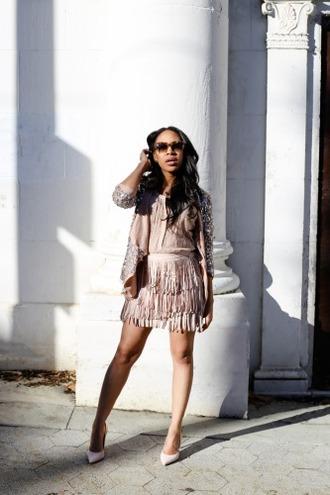 mattieologie blogger jacket skirt top shoes sunglasses jewels