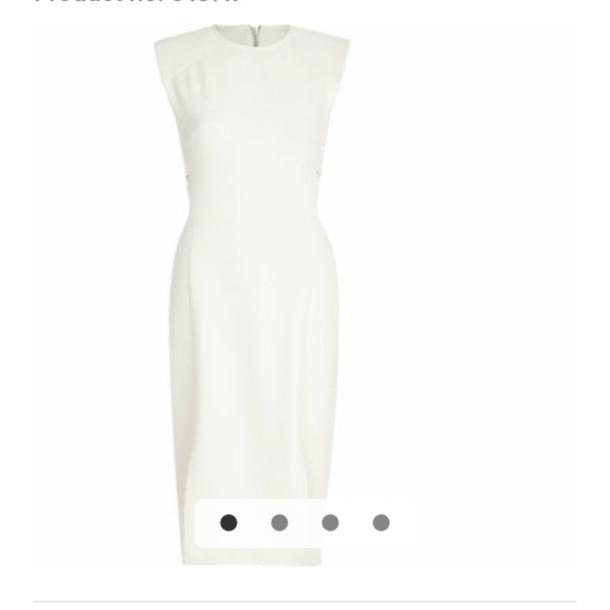 dress white white dress pencil dress sheath dresses