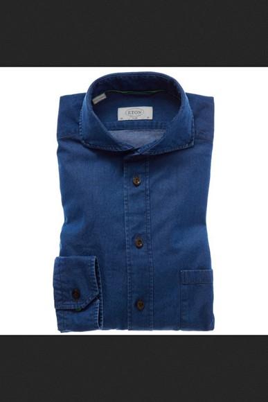blue button up shirt t-shirt long sleeves