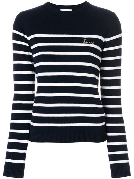 Maison Labiche sweater striped sweater women classic blue