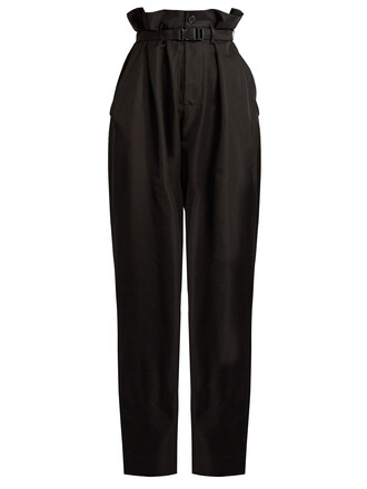 high cotton black pants