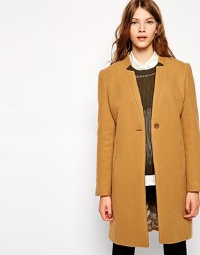 Cooper & stollbrand inverted overcoat at asos