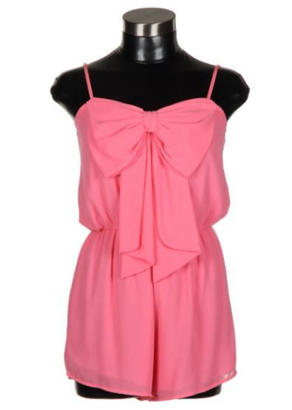 romper pink bow