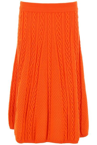 Kenzo Memento N.3 Wool Skirt in orange