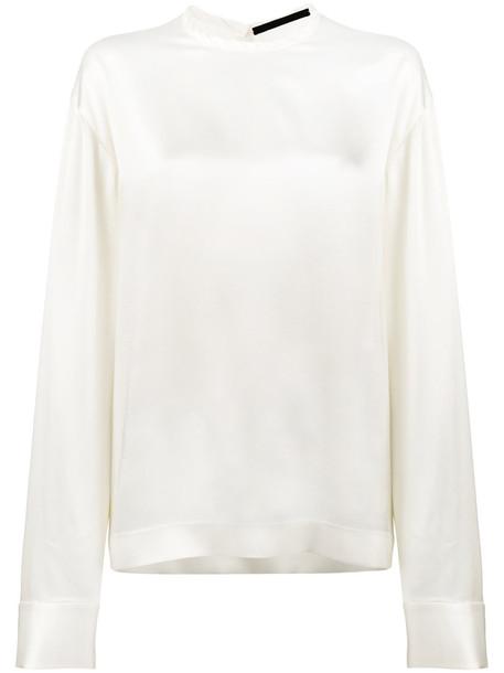 Haider Ackermann blouse women white cotton top