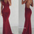 Custom Made red chiffon backless long prom dress for teens, evening dress - 24prom