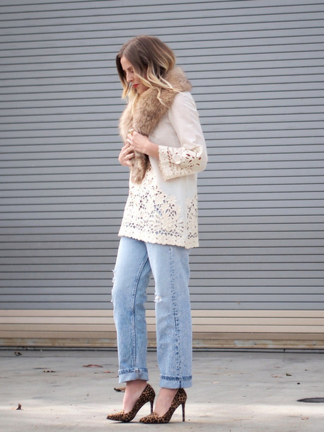 b. jones style blogger blouse shoes
