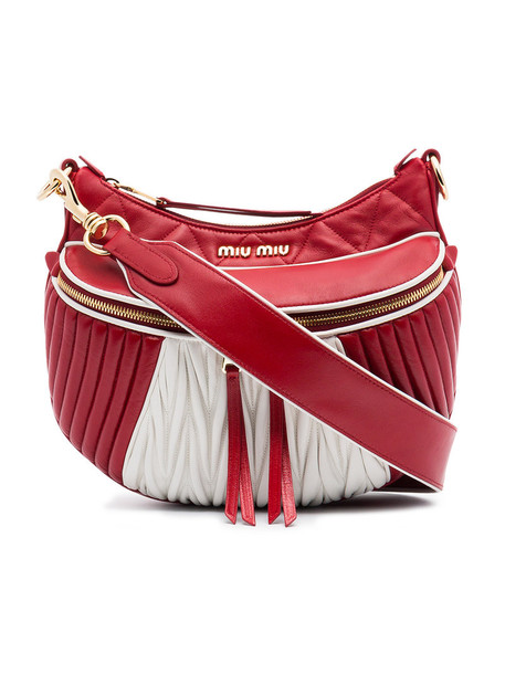Miu Miu women quilted bag shoulder bag leather red