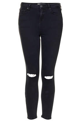 Petite MOTO Ripped Black Wash Jamie Jeans - Jeans - Clothing - Topshop