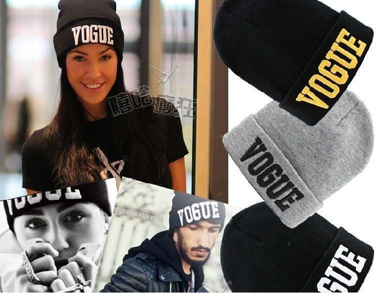 New Women Men Unisex Vogue Knitted Beanie Ski Hat Cap Warm Winter Hip-Hop Gothic