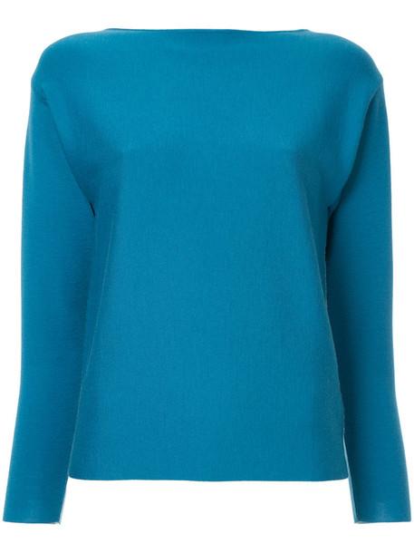 Des Pres jumper women blue wool sweater