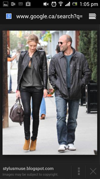 jacket leather jacket rosie huntington-whiteley