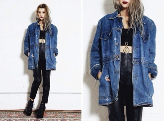 jacket denim oversized