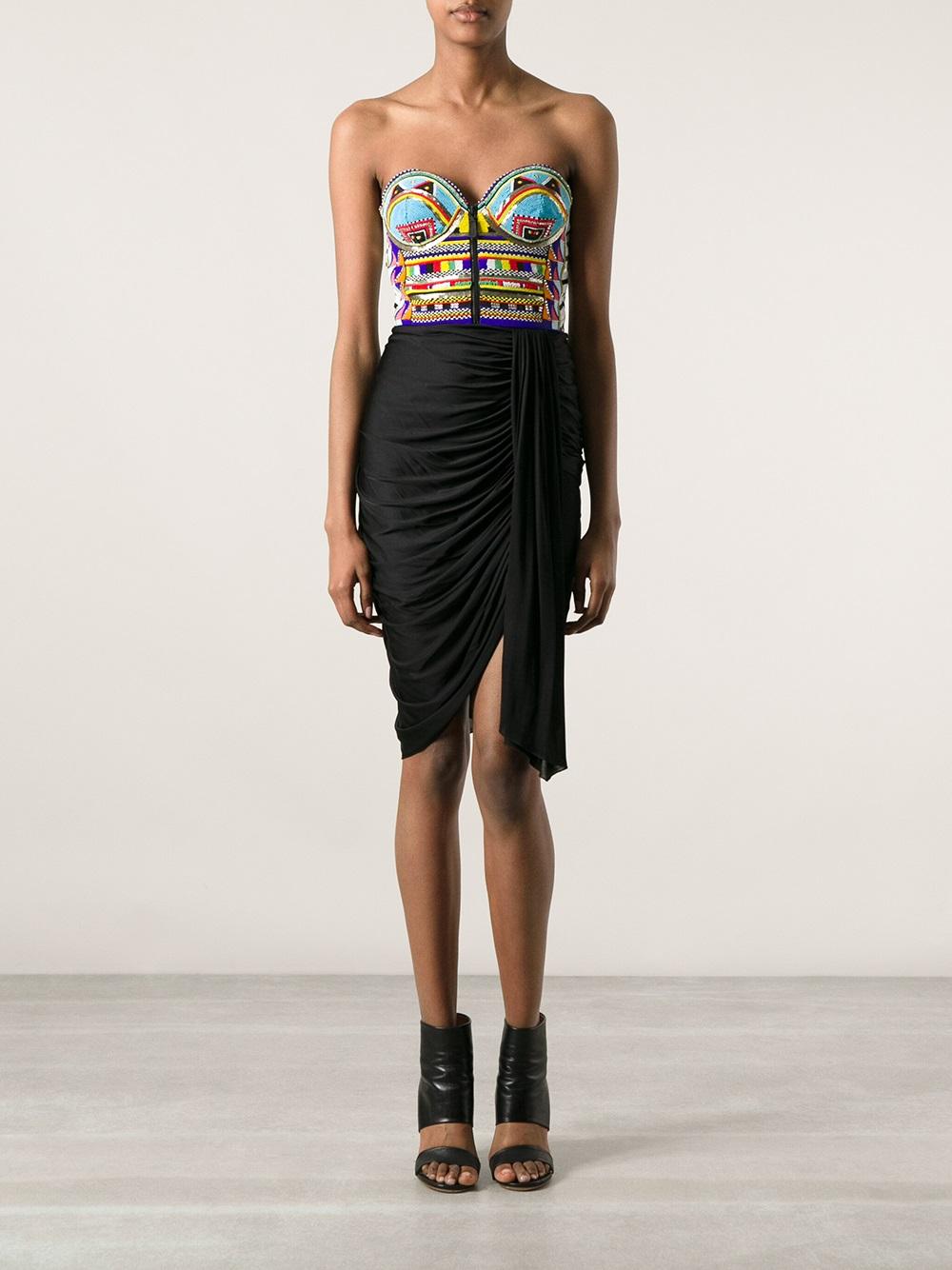Emilio Pucci Beaded Bustier Dress - Luisa World - Farfetch.com