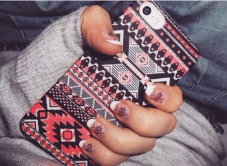 phone cover tribal print pink black iphone cover