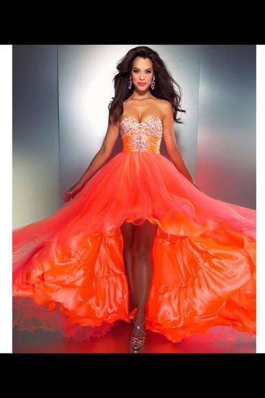 prom dress orange dress