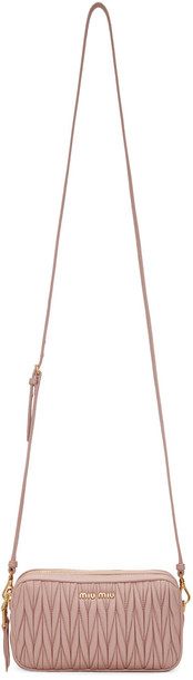 Miu Miu zip bag crossbody bag pink