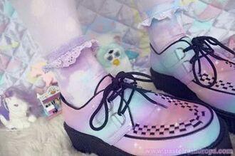 shoes creepers pastel goth pastel pastel grunge