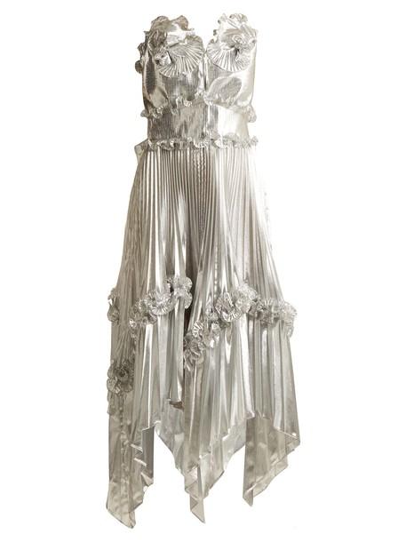 ZANDRA RHODES gown silver dress