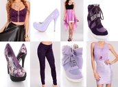 shoes,purple,purple tank top,spiked shoes,pumps,wedges