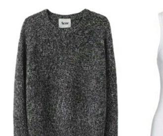 sweater gray charcoal cute falll