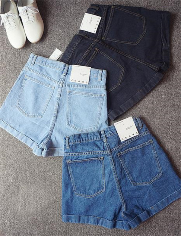 shorts high waisted denim shorts tumblr High waisted shorts
