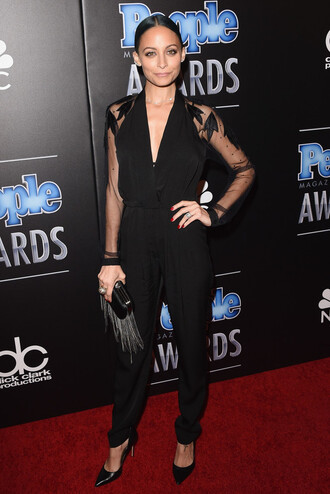 jumpsuit nicole richie clutch bag shoes